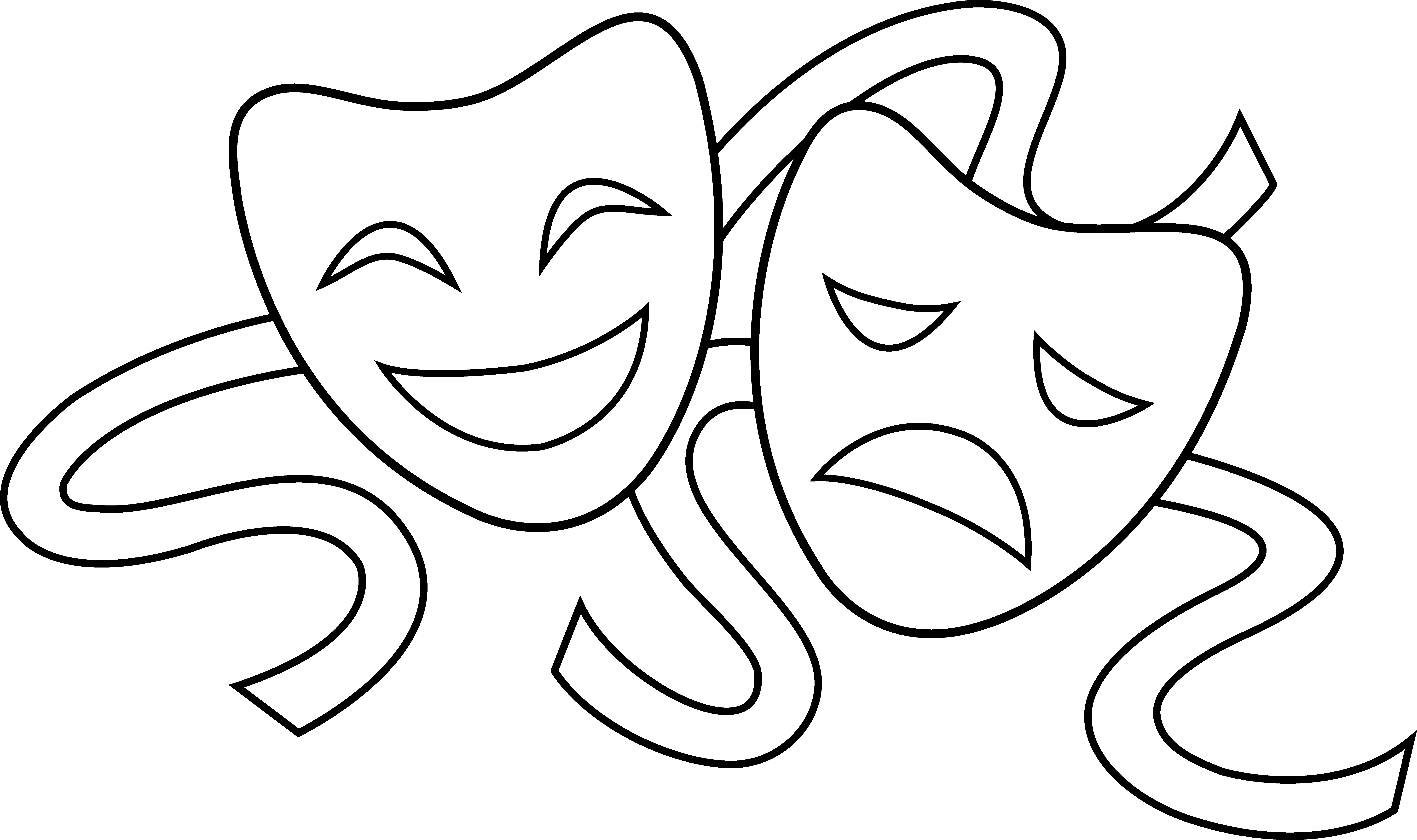 Images For > Comedy And Tragedy Clipart.