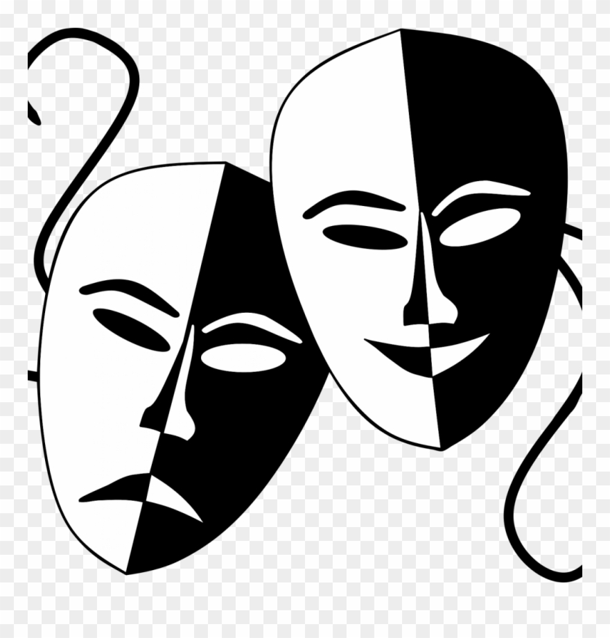 Comedy Tragedy Masks Png.