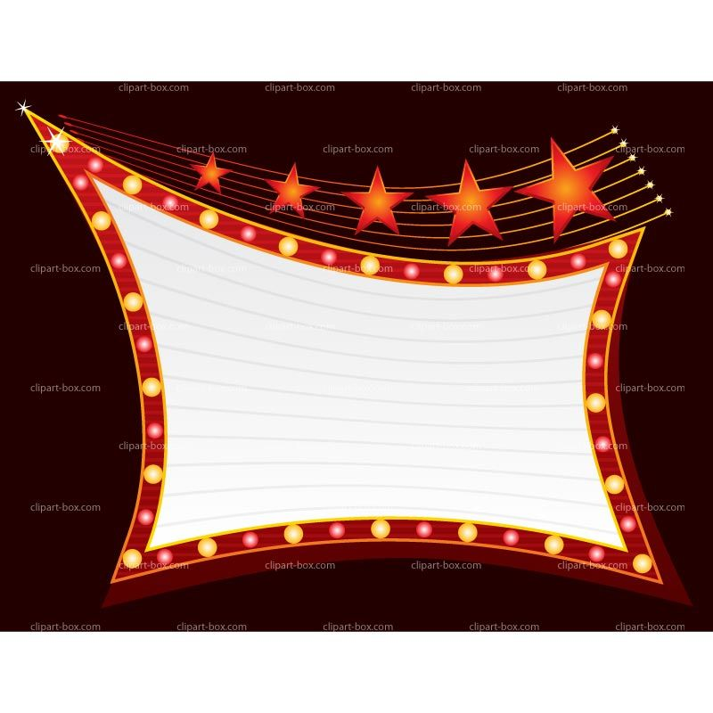 Now Showing Marquee Sign Clipart.