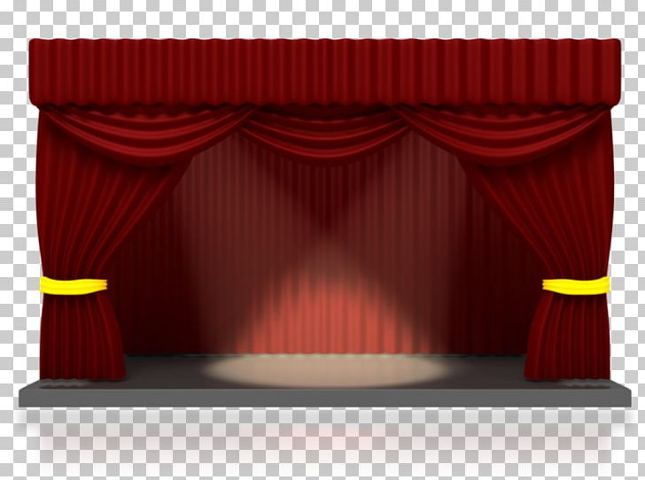 Theater Drapes And Stage Curtains Theatre Spotlight PNG.
