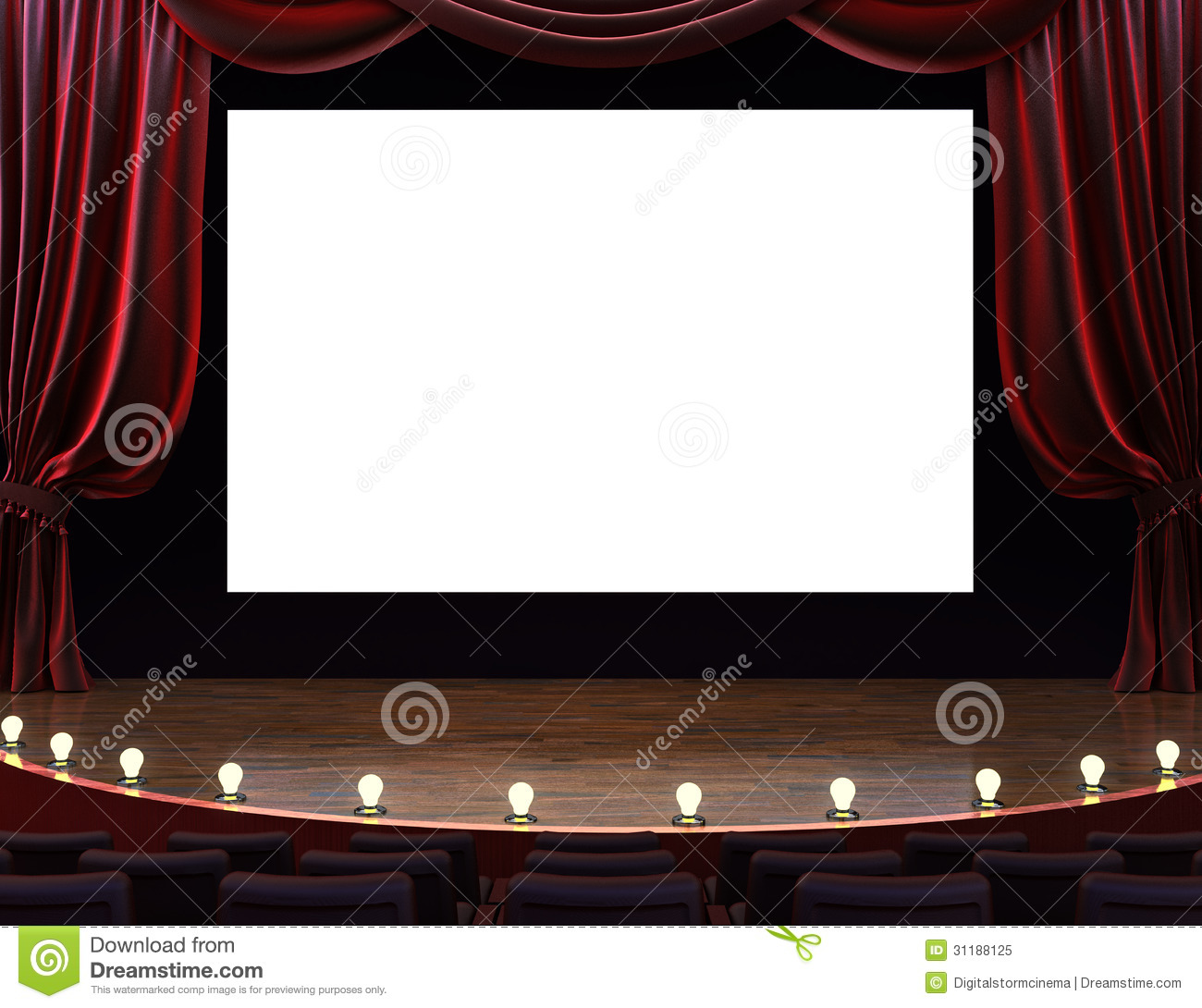 Movie Theater Screen Clipart.