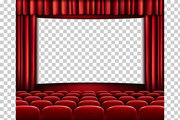 Cinema Free content Film , Red curtains, cinema screen.
