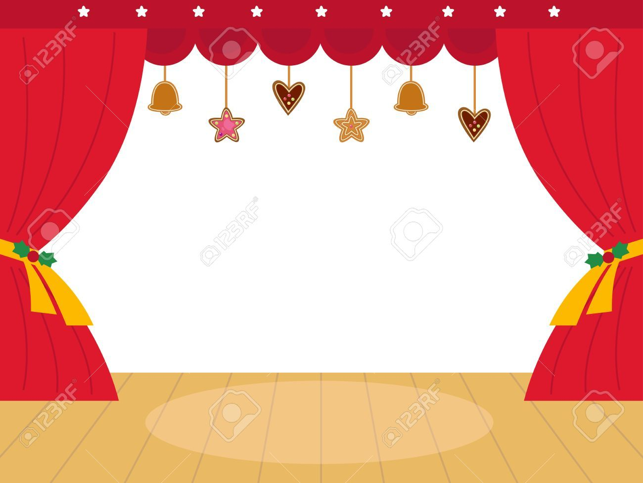 christmas theatre stage clipart.