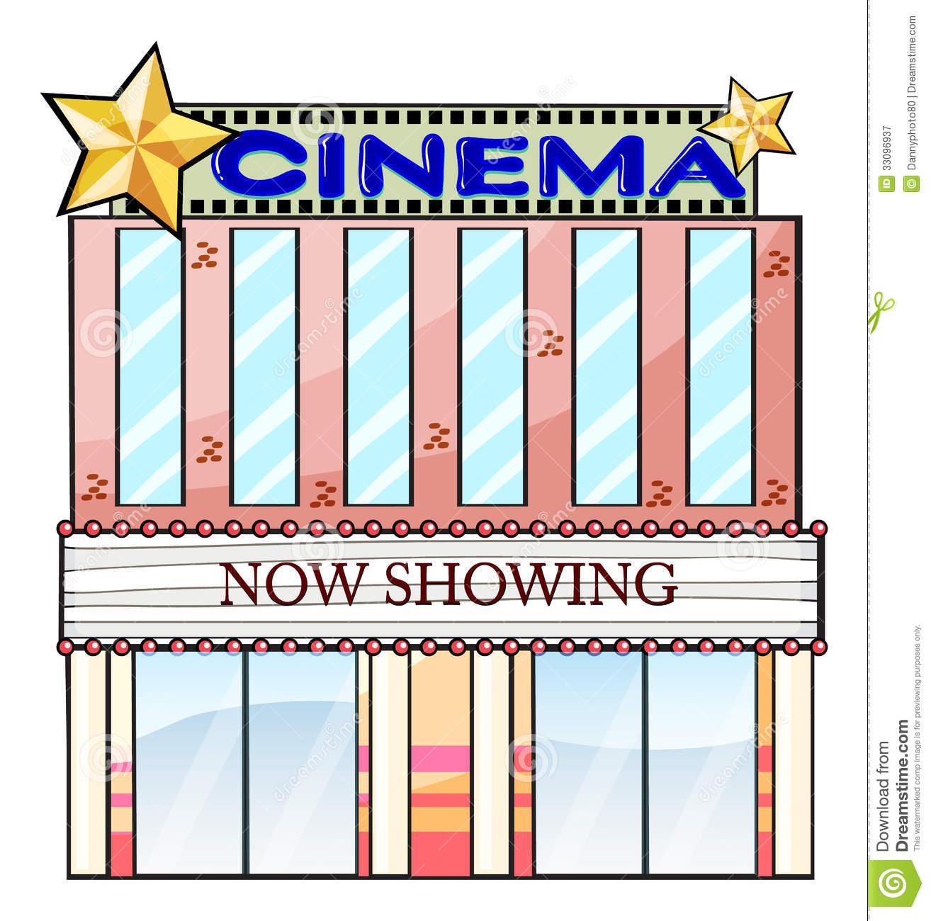 Movie Theatre Building Clipart.