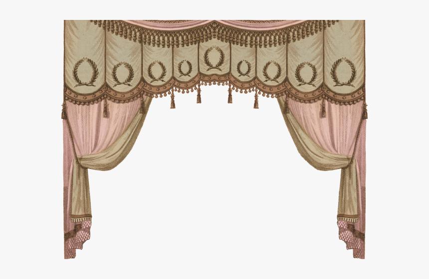 Curtain Clipart Georgian Period.
