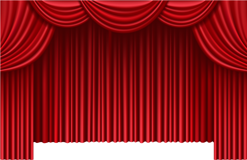Red Theater Curtains Transparent Red Curtain.