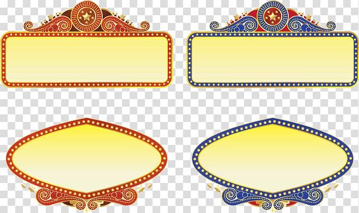 Marquee Cinema Theatre graphics, Border islamic transparent.