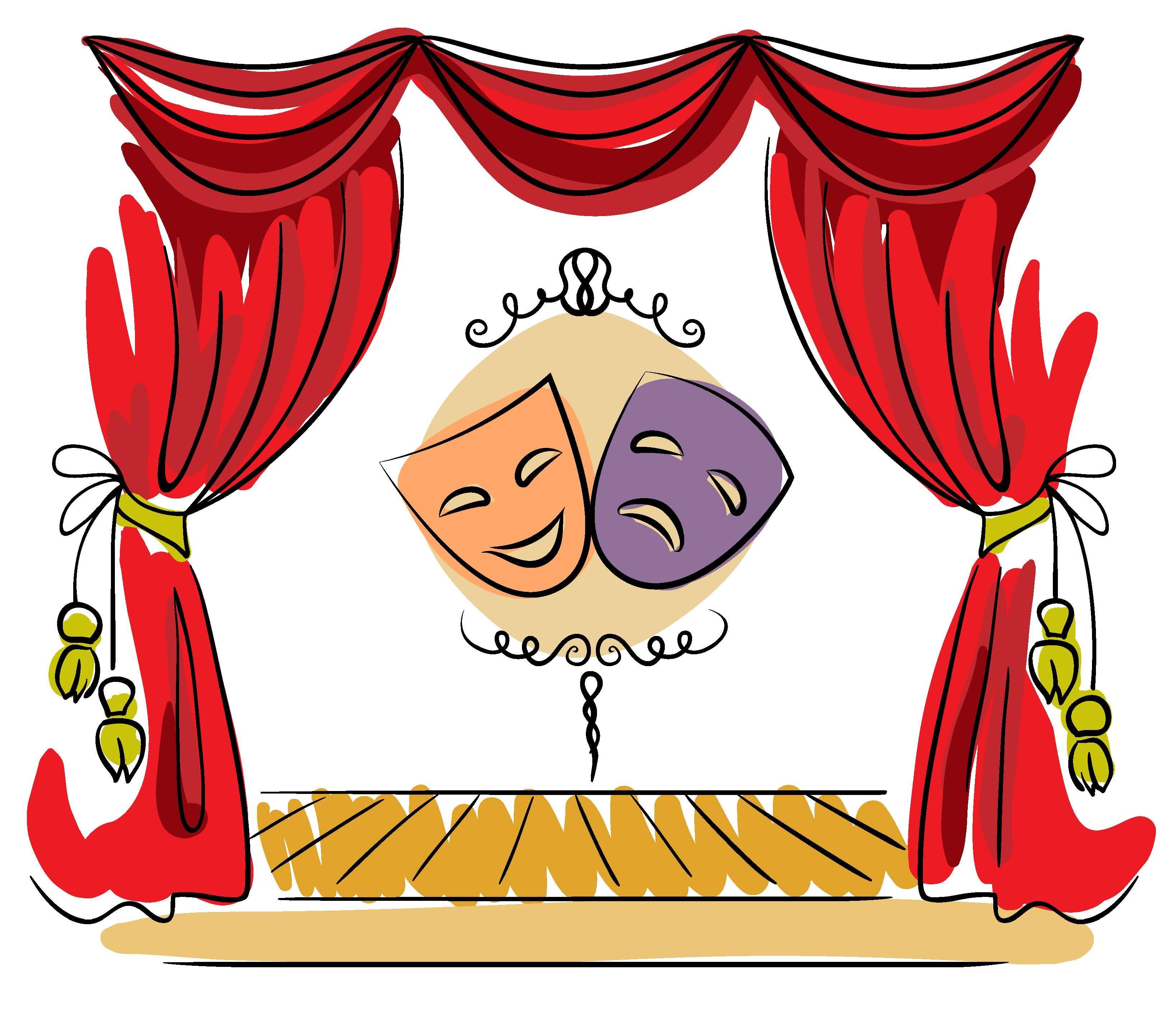 Theatre clipart childrens theater, Theatre childrens theater.