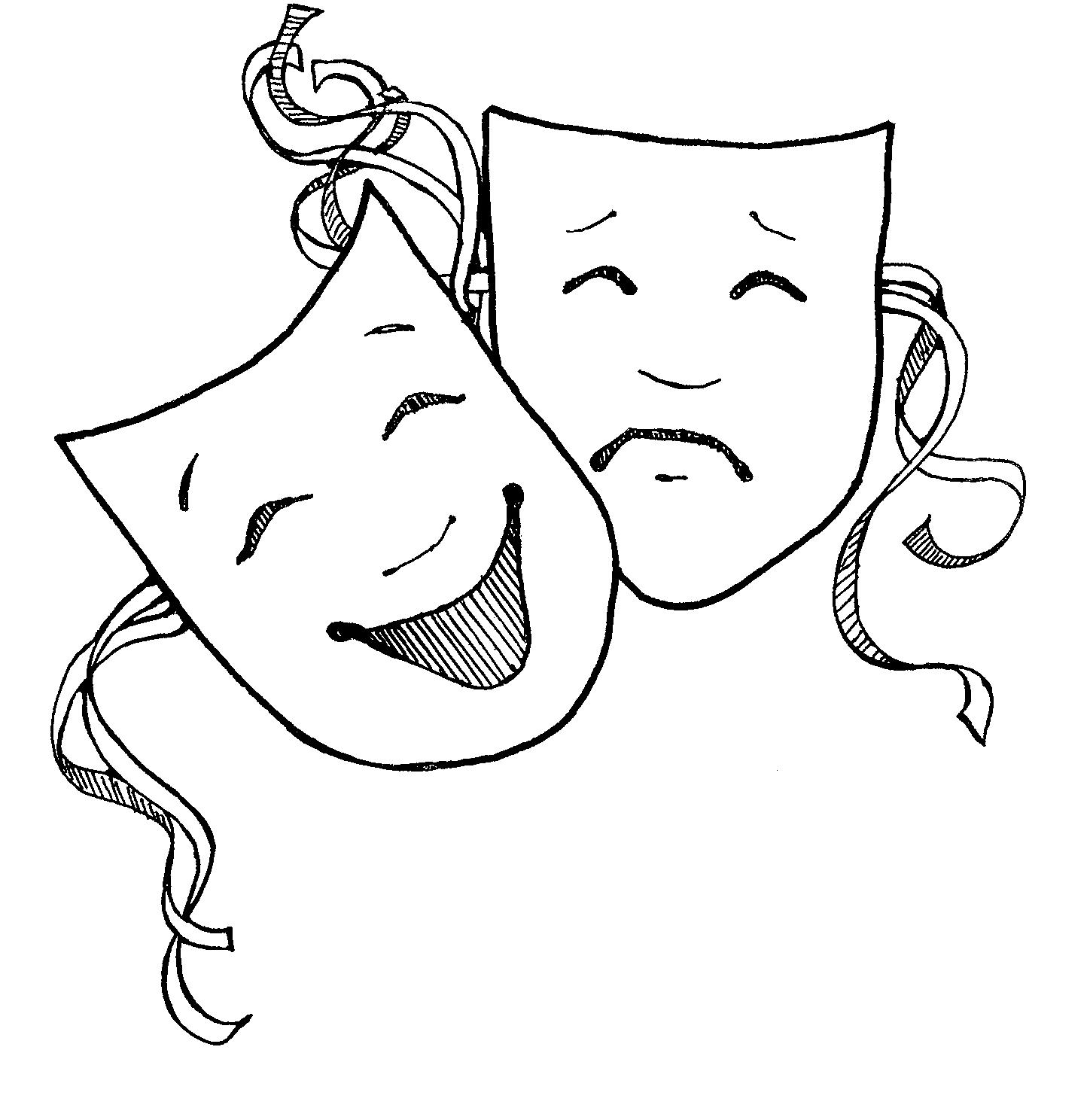 Drama Masks Clipart & Drama Masks Clip Art Images.