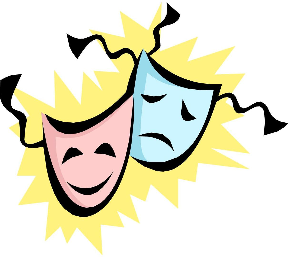 Theatre Mask Clip Art.