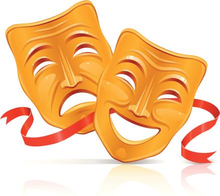 Theatre Mask Clipart Masks Illustration Stock Masks, Theater Masks.