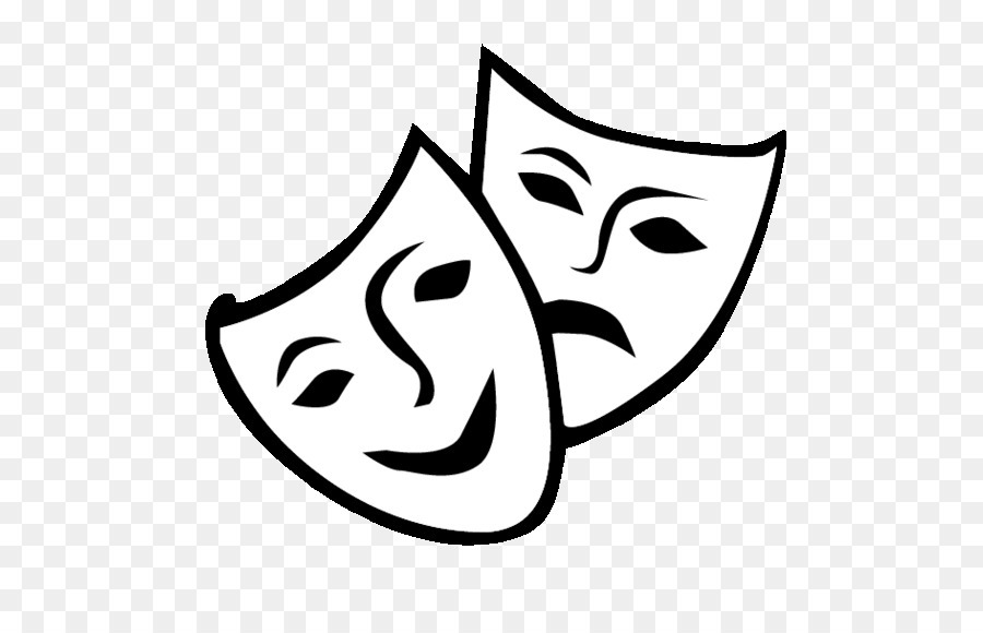 Download Free png Theatre Drama Mask Comedy Clip art mask.