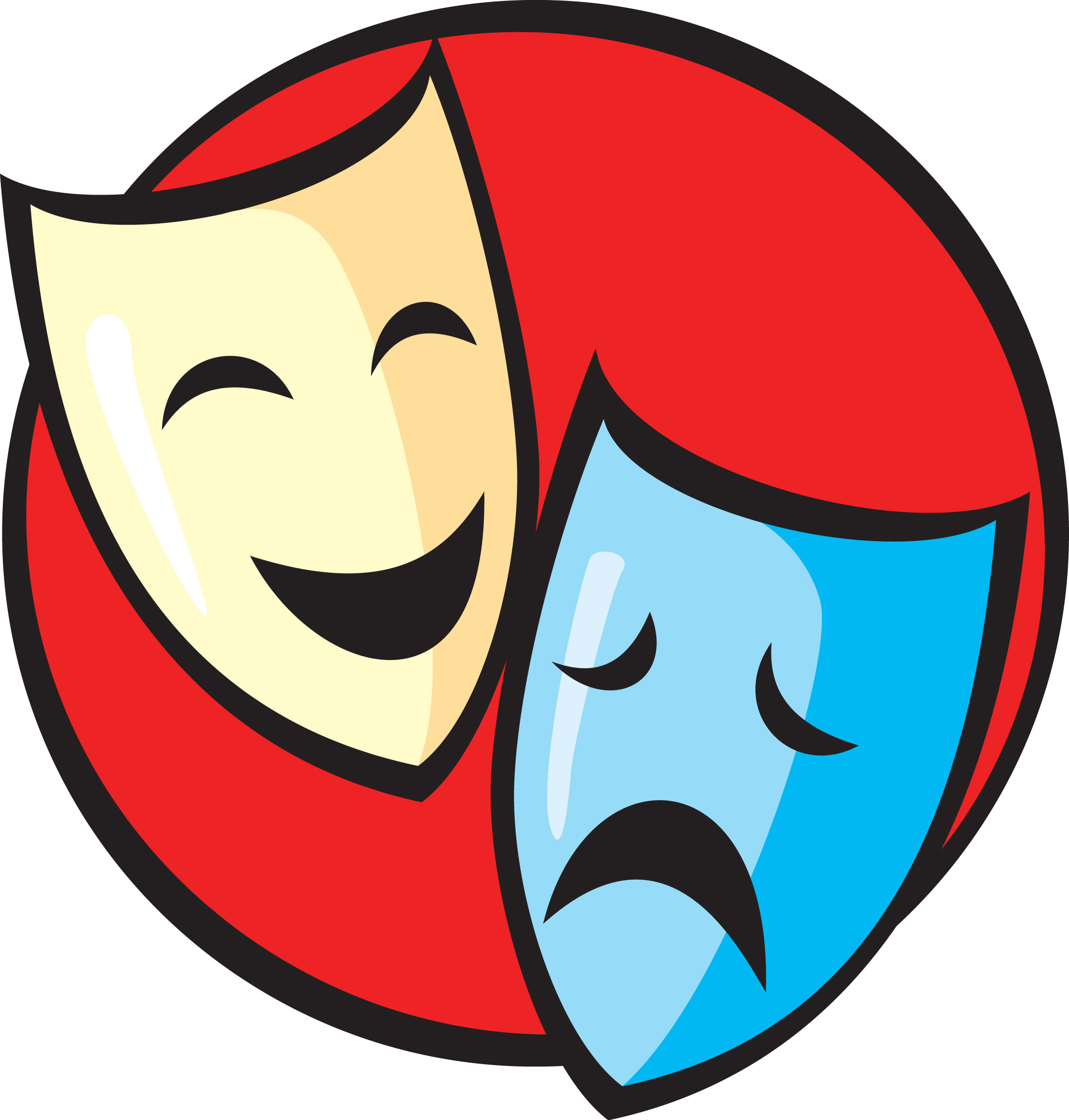 Theatre Masks Clipart.