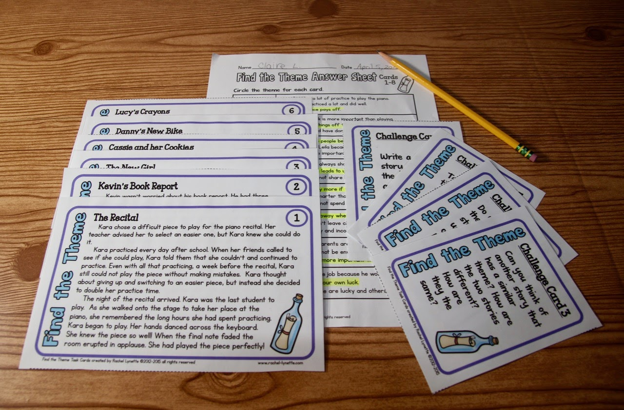 Ideas for Teaching Theme (and a couple freebies!).