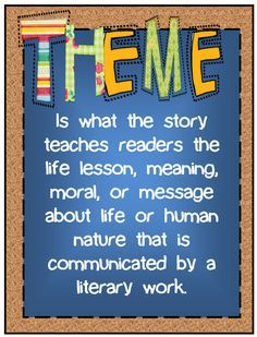 43 best images about Teaching Theme in Literature on Pinterest.