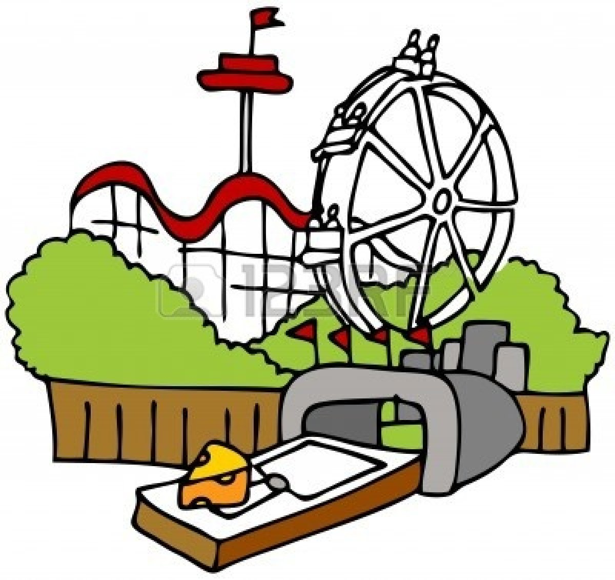 Disney amusement park clipart.