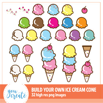 Ice Cream Cone Clip Art & Worksheets.