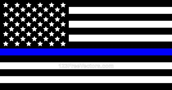 Thin Blue Line American Flag.