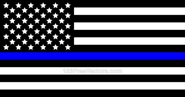 Thin Blue Line American Flag.