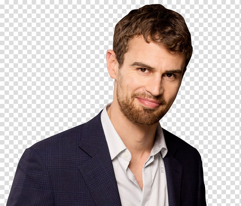 THEO JAMES, smiling man wearing white dress shirt.