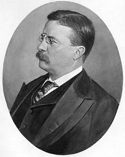 Clipart of President Theodore Roosevelt.