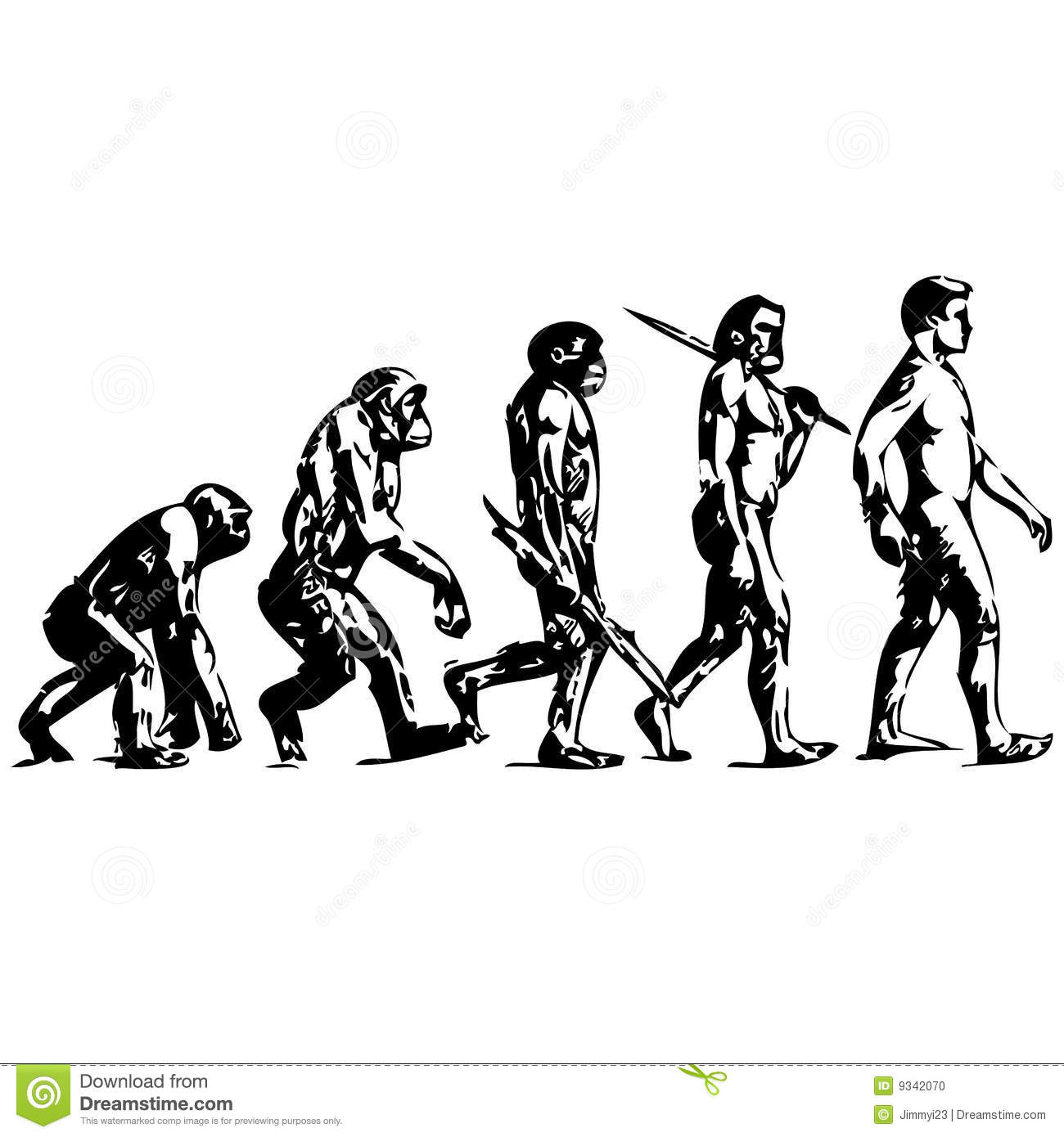 Evolution of man free clipart.