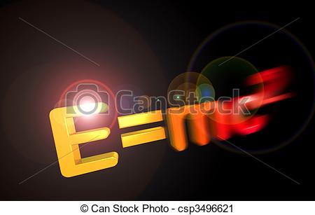 Clipart of E=mc2 theory of relativity.