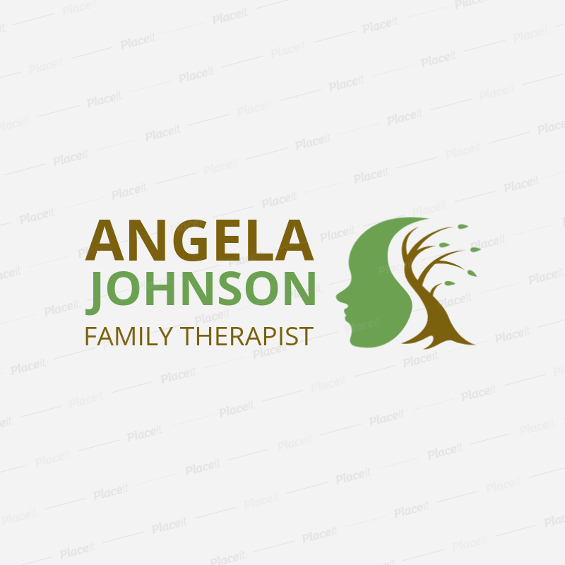 Counselling Logo Maker with a Creative Mental Health Icon 1524d.