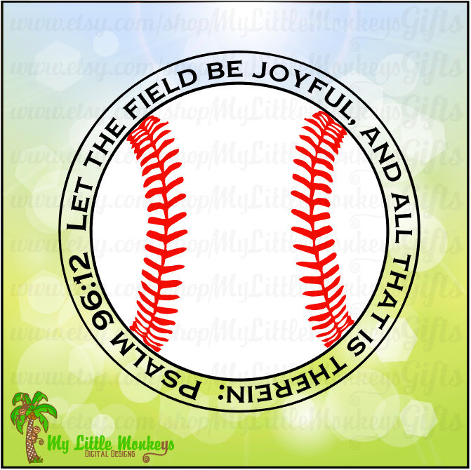 Psalm 96:12 Let the Field be Joyful and by MyLittleMonkeysGifts.