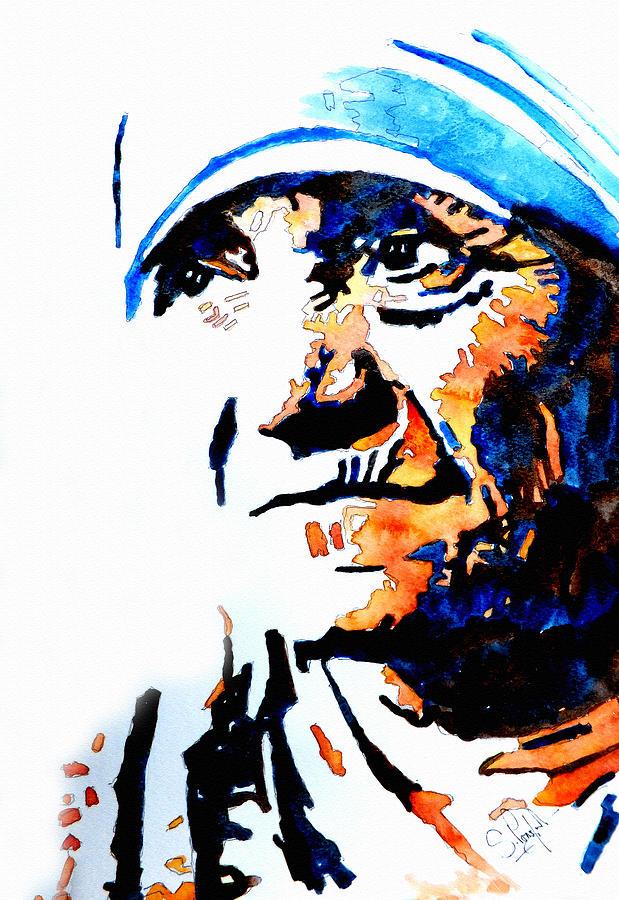 Mother Teresa Painting.