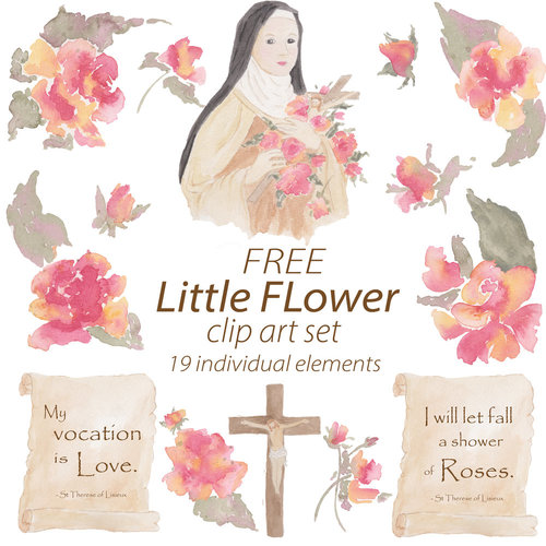 St Therese of Lisieux Clipart.
