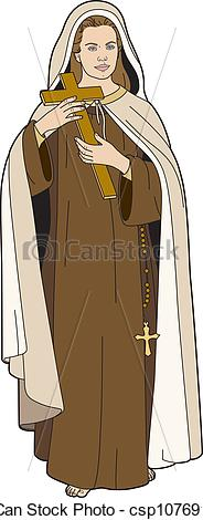 EPS Vector of St Therese.