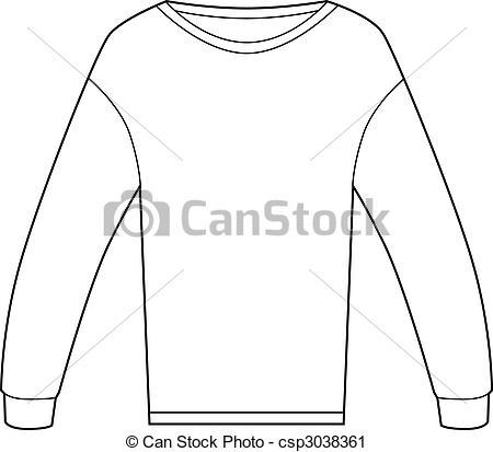 Vector Clip Art of Thermal Shirt.