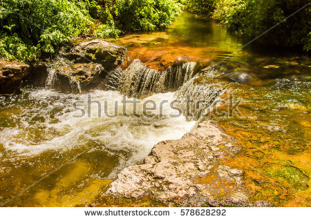 Waterfall New Zealand Stock Photos, Royalty.