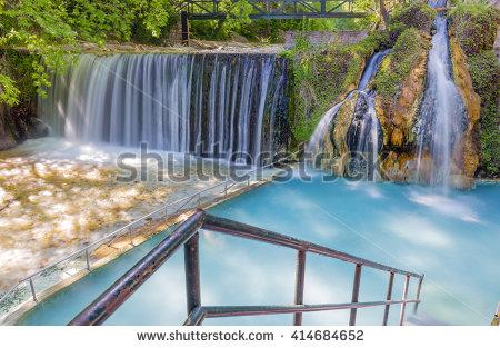 Hot Springs Creek Stock Images, Royalty.