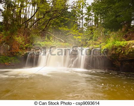 Stock Photo of Thermal waterfall.