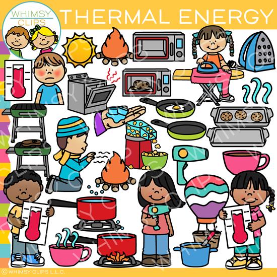 Thermal Energy Clip Art.