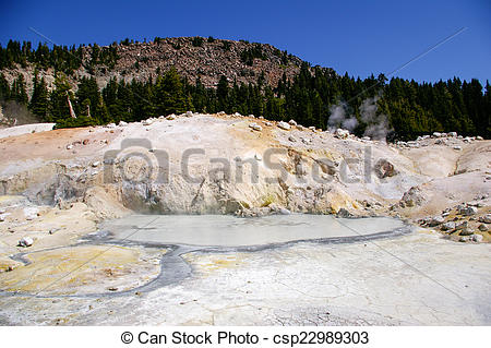 Stock Photography of Thermal Feature at Lassen Volcanic National.