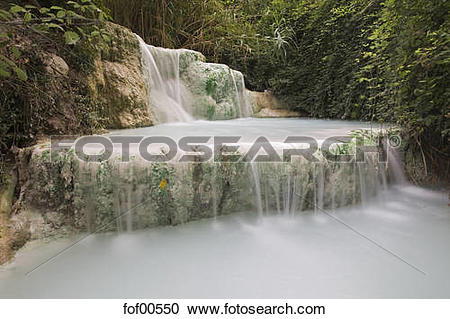 Stock Photography of Italy, Tuscany, Thermal springs and Fossa.