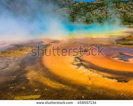 Hot Yellowstone Mud Spring Stock Photos, Royalty.