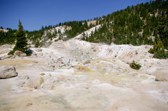 Volcanic Thermal Hot Springs Contrasts Snow, Yellowstone Nat Park.