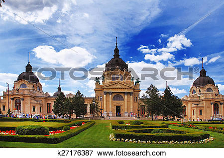 Picture of The famous Szechenyi (Szechenyi) thermal Baths, spa and.