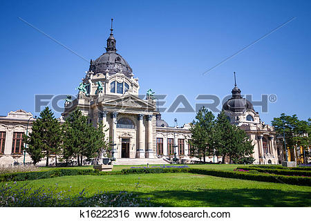 Stock Images of Thermal Baths and Spa, Budapest k16222316.