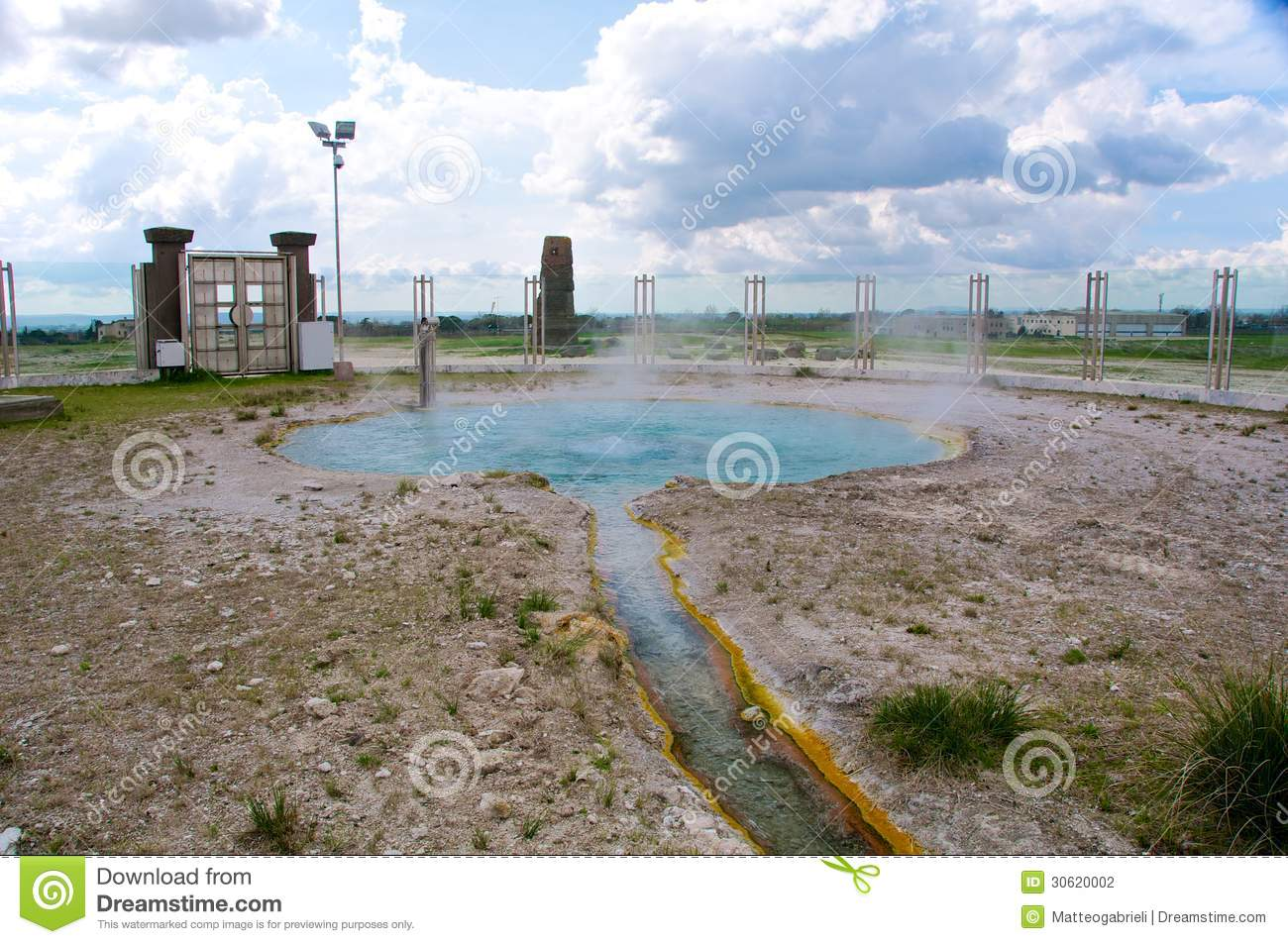 Bullicame Thermal Spring Near Viterbo Italy Stock Photography.