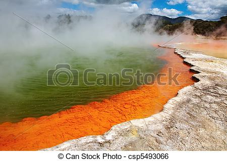 Stock Image of Hot thermal spring, New Zealand.