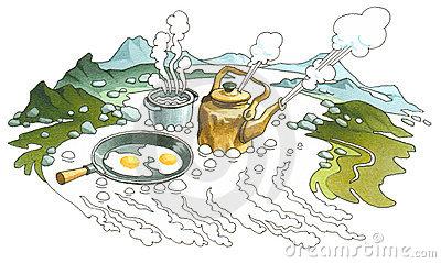 Geyser Stock Illustrations.