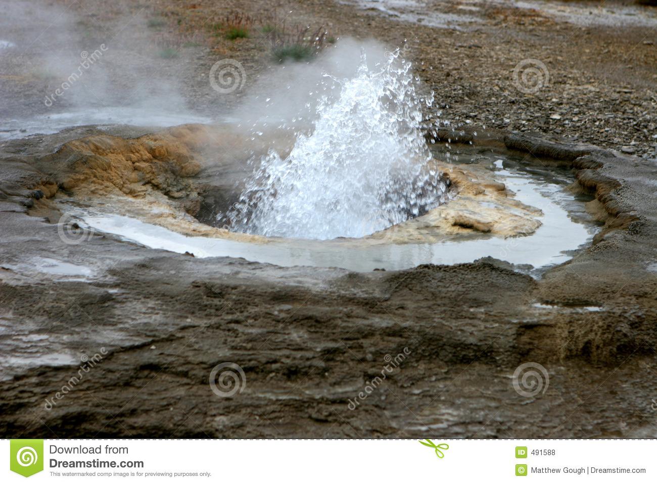 Geothermal Hot Spring 02 Royalty Free Stock Photos.