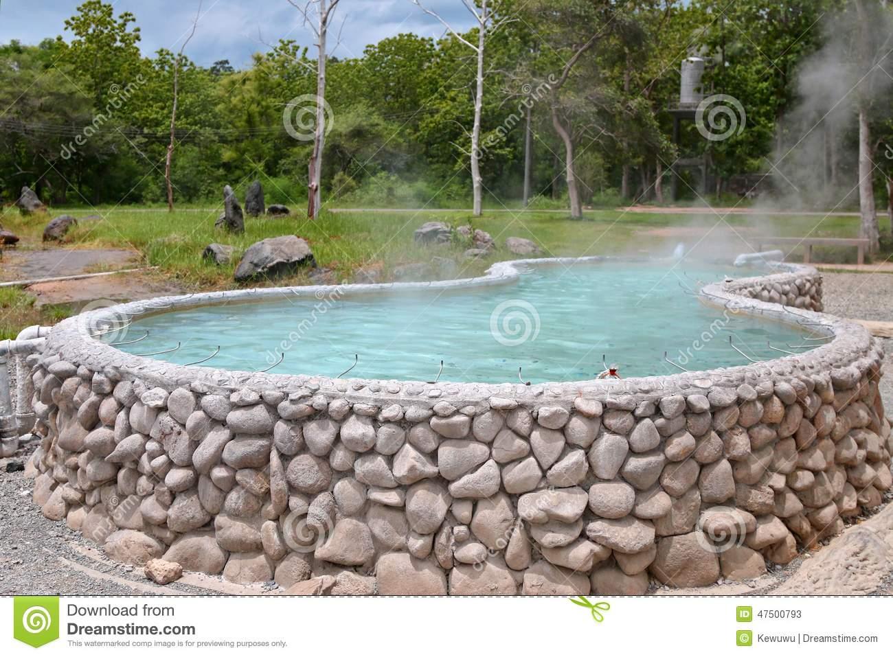San Kamphaeng Hot Springs In Chiangmai Stock Photo.