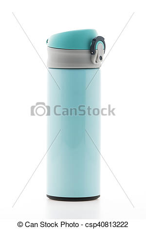 Clip Art of Thermal bottle.
