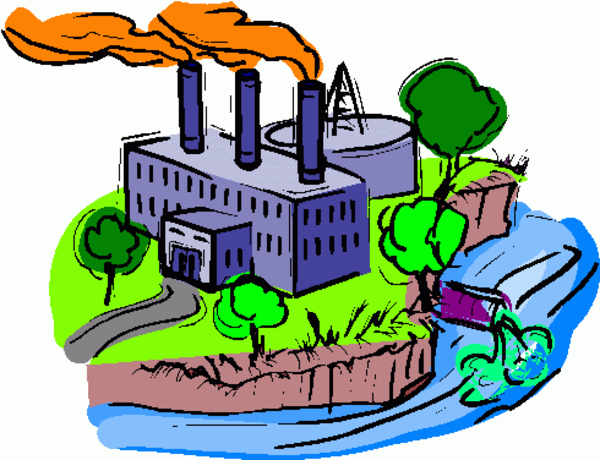 Environmental water pollution clipart.